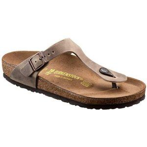 Birkenstock Gizeh Brown Oiled Leather Sandals